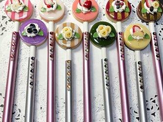選べる9種類☆彩りケーキのキラキラボールペンの画像