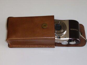 手縫単三電池使用のデジカメケースの画像