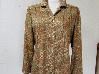 着物リメイク ピンタックチュニックブラウスの画像