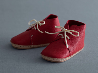 my first baby shoes nico レッドの画像