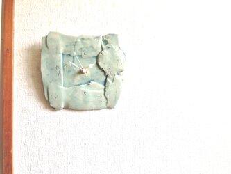 薄青ジーンズ釉 掛け時計Mの画像