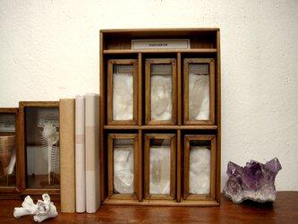 産地別水晶(クォーツ)標本箱。の画像