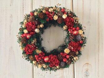 クリスマスリースmini B(12cm)の画像