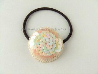 Hair accessory ヘアゴム スパングル ビーズ刺繍 (K0711)の画像