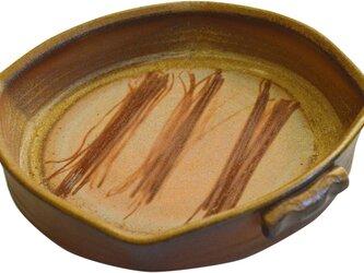 備前焼オーブン皿(L)の画像