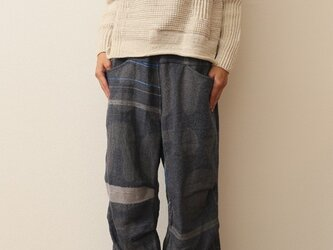 nica pants HOSO wool70 cotton30の画像