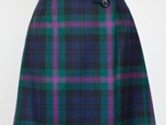 タータンチェック・ラップスカート・ダークグリーンの画像