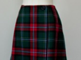 タータンチェック・ラップスカート・グリーンの画像