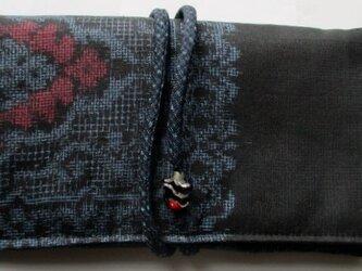 送料無料 大島紬で作った和風財布・ポーチ3835の画像