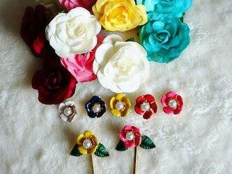【ピアス】あい の 花 。/ レッドの画像