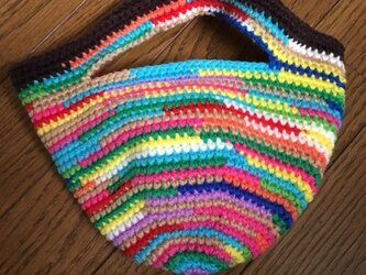 手編みのミニトートバッグ④の画像