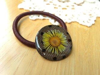 黄色いお花のヘアゴム***の画像
