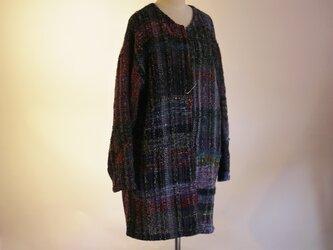 手織り コートの画像