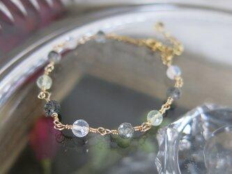 宝石質AAA◆ミックスストーンズ 華奢な天然石ブレスレット の画像