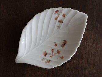 きのこのリーフ皿の画像