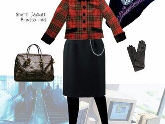 タータンチェック・ショートジャケット【Brodie Red】の画像