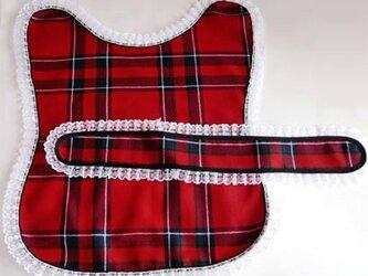 タータンチェック・ペット服 赤の画像