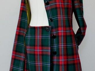 タータンチェック・ロングコートジャケット【Macrenium】の画像