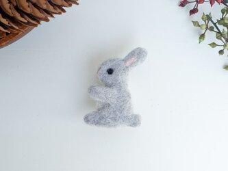 動物ブローチ【ウサギ】の画像