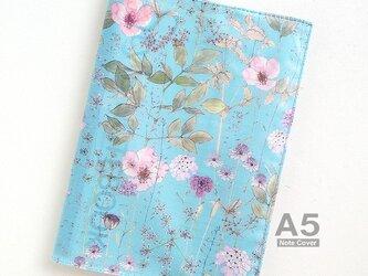 リバティ A5 ノートカバー イルマ 水色とピンクの画像