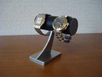 腕時計 収納  ブラック腕時計、ダブルリング、小物入れスタンド の画像