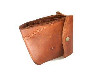 財布 二つ折り ブラウンワイルドの画像