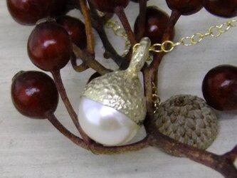 真珠のドングリ*925/K18gp 14kgf pendantの画像
