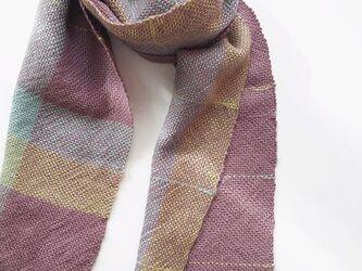 手織りベビーアルパカマフラー 303 の画像