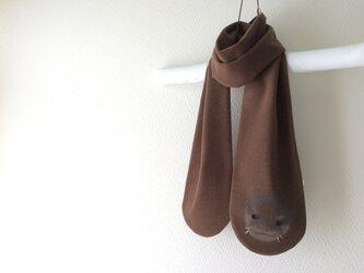 暖かItary製ウール 隠れコツメカワウソ マフラー  の画像