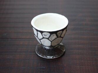 亀甲模様のワイングラスの画像