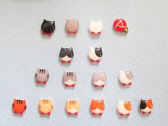 【選べる樹脂ピアス】猫3【1ペア受注製作】の画像