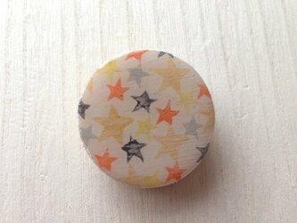 wood design brooch:star ORの画像