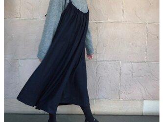 ウール  大人のジャンパースカート 濃紺の画像