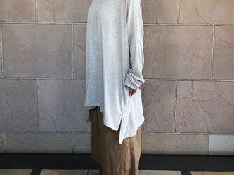 極上肌ざわり 綿ウールジャージBIGプルオーバー 杢ベージュの画像