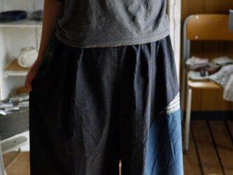 正絹パッチワークギャザースカートの画像