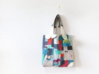 ちくちく2‐faced bag「mixG」再6の画像