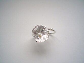 睡蓮の葉、二連シルバーリングの画像