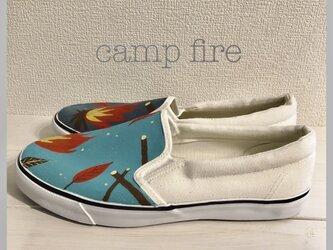 ペイントスリッポン 「camp fire 」の画像