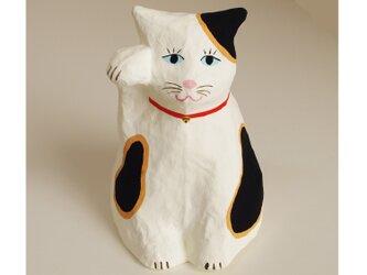 ■張り子 招き猫 日本猫4 置物の画像