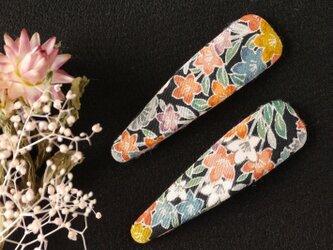 幸せ髪飾り きものヘアピン プレミアム<花柄・絹>の画像