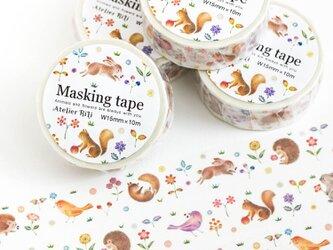"""絵本のかけら。マスキングテープ """"動物たちの幸せなひととき"""" MT-3の画像"""