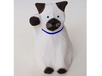 ■張り子 招き猫 シャム猫2 置物の画像