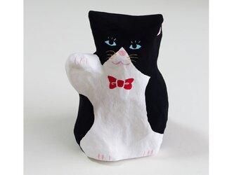 招き猫(小)張り子 ハチワレ4 置物の画像
