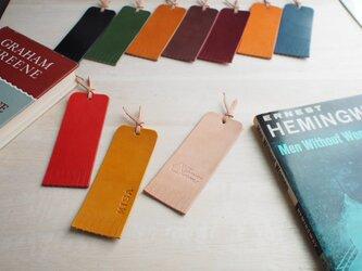 3個セット 本のしおり ブックマーカー【名入れ無料・選べる革】の画像