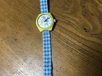トダンディー様オーダー作品 どこか懐かしいギンガムチェックの時計ベルトの画像