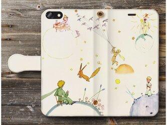 【星の王子さま】星の王子様スマホケース手帳型 iPhoneⅩ XS 全機種 対応 TPU レザー 名画の画像
