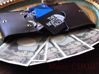 イタリアンバケッタ・ミネルバリスシオ・革新のプエブロ・コンパクト2つ折り財布(ショコラ)の画像