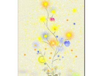 「三日月の止まり木」 ほっこり癒しのイラストポストカード2枚組No.645の画像