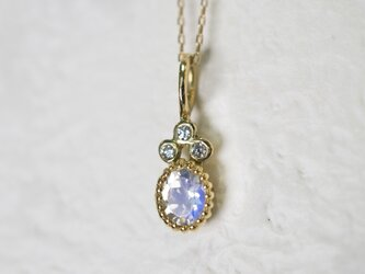 ムーンストーン×ダイヤモンドペンダント(No.1184)の画像