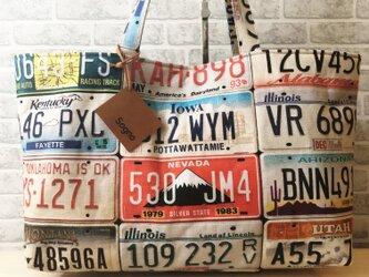 トートバッグ*ナンバープレートAの画像